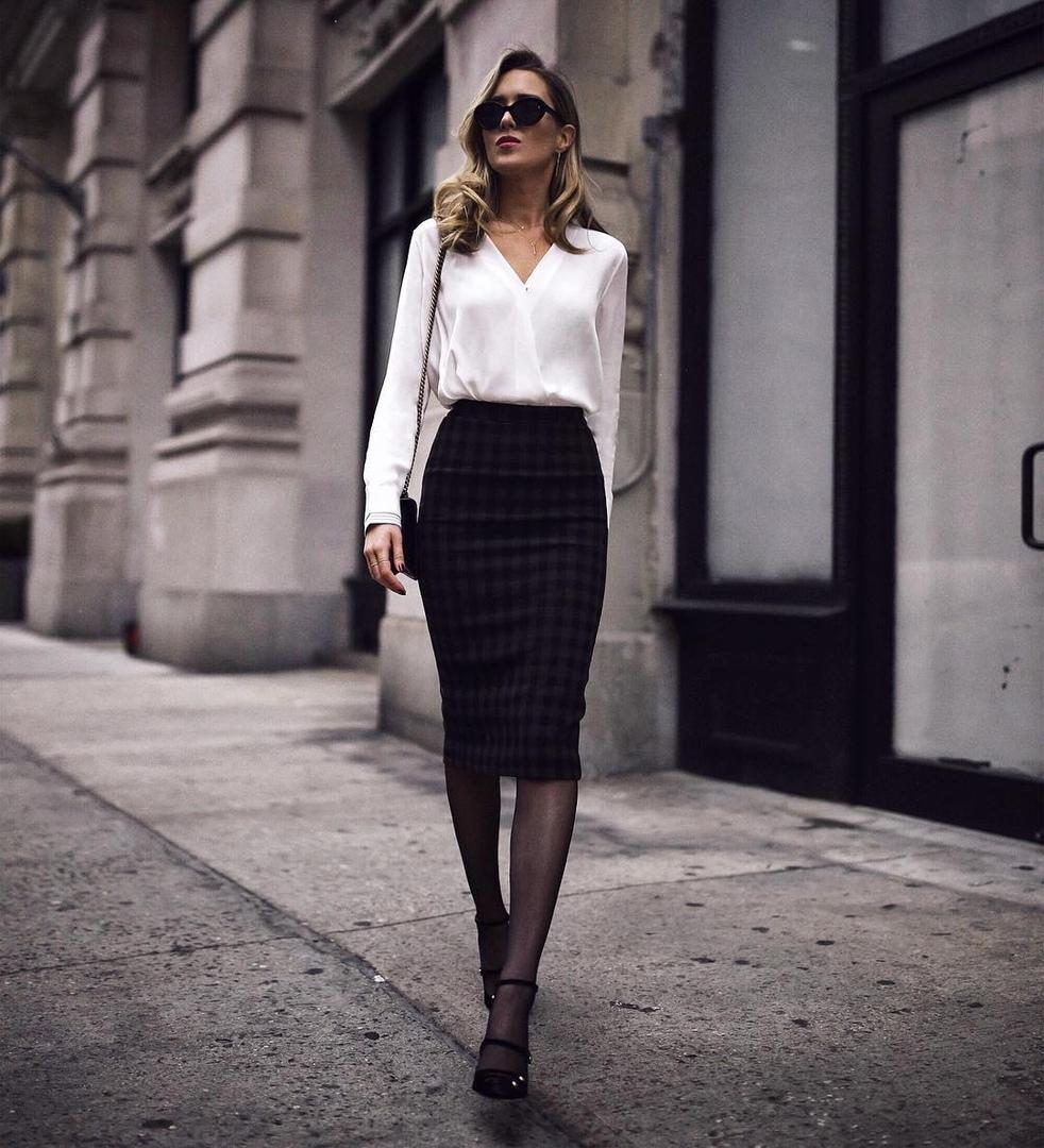 Черная юбка-карандаш фото 2