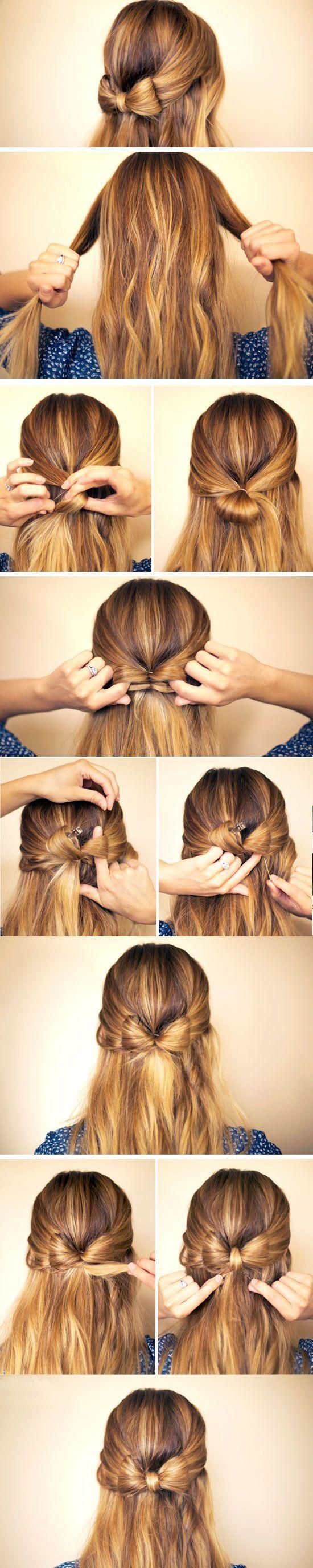 Как сделать бант из волос : подробная инструкция с фото 27