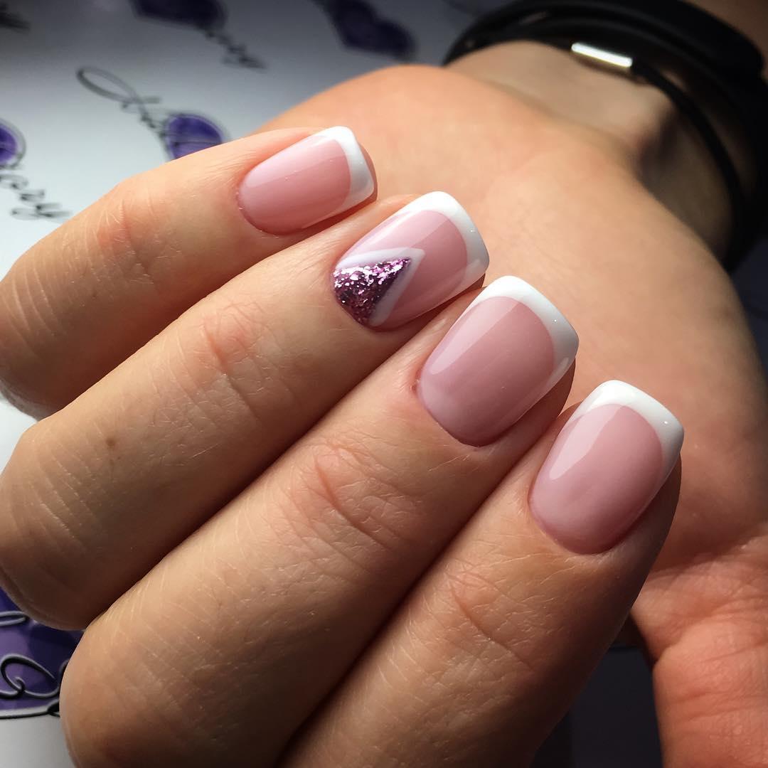 Ногти шеллак дизайн фото 2018 новинки френч