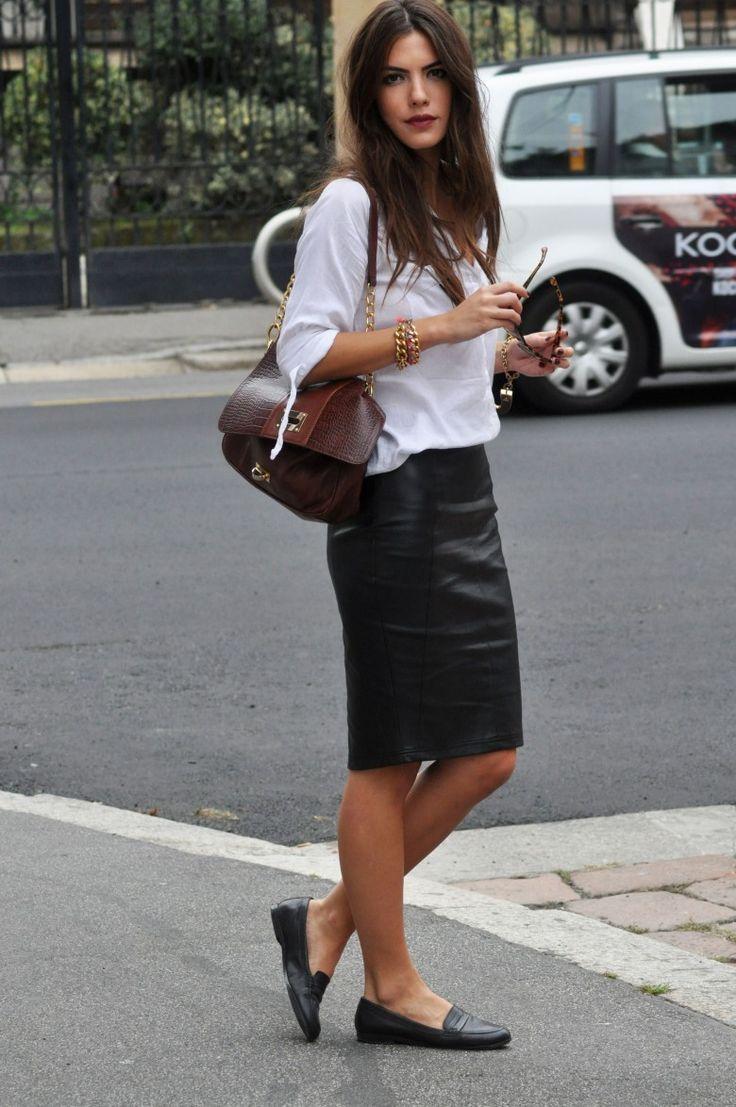 67Что носить с юбкой карандаш обувь