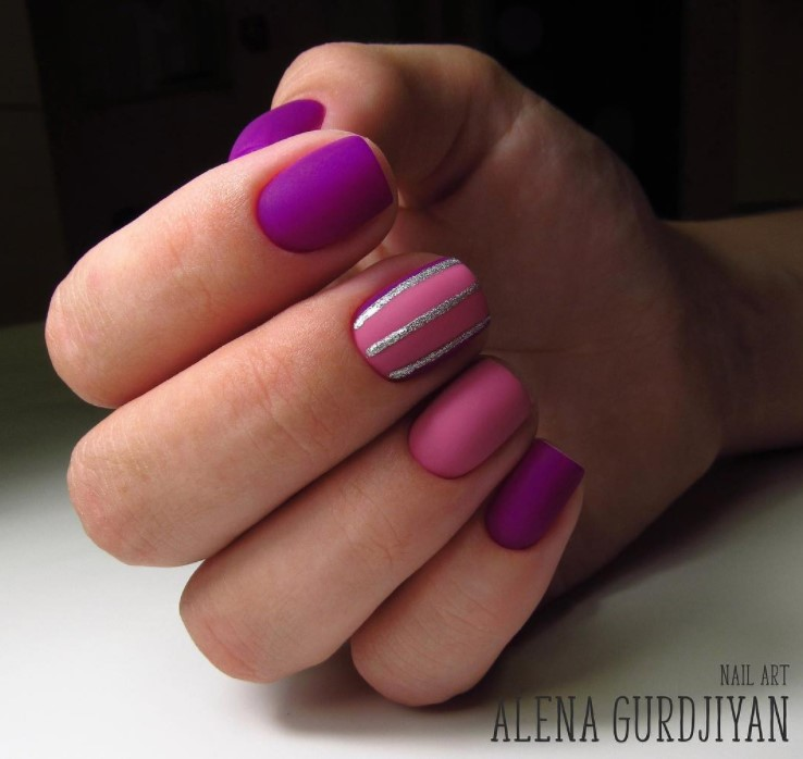 маникюр на короткие ногти фото 13