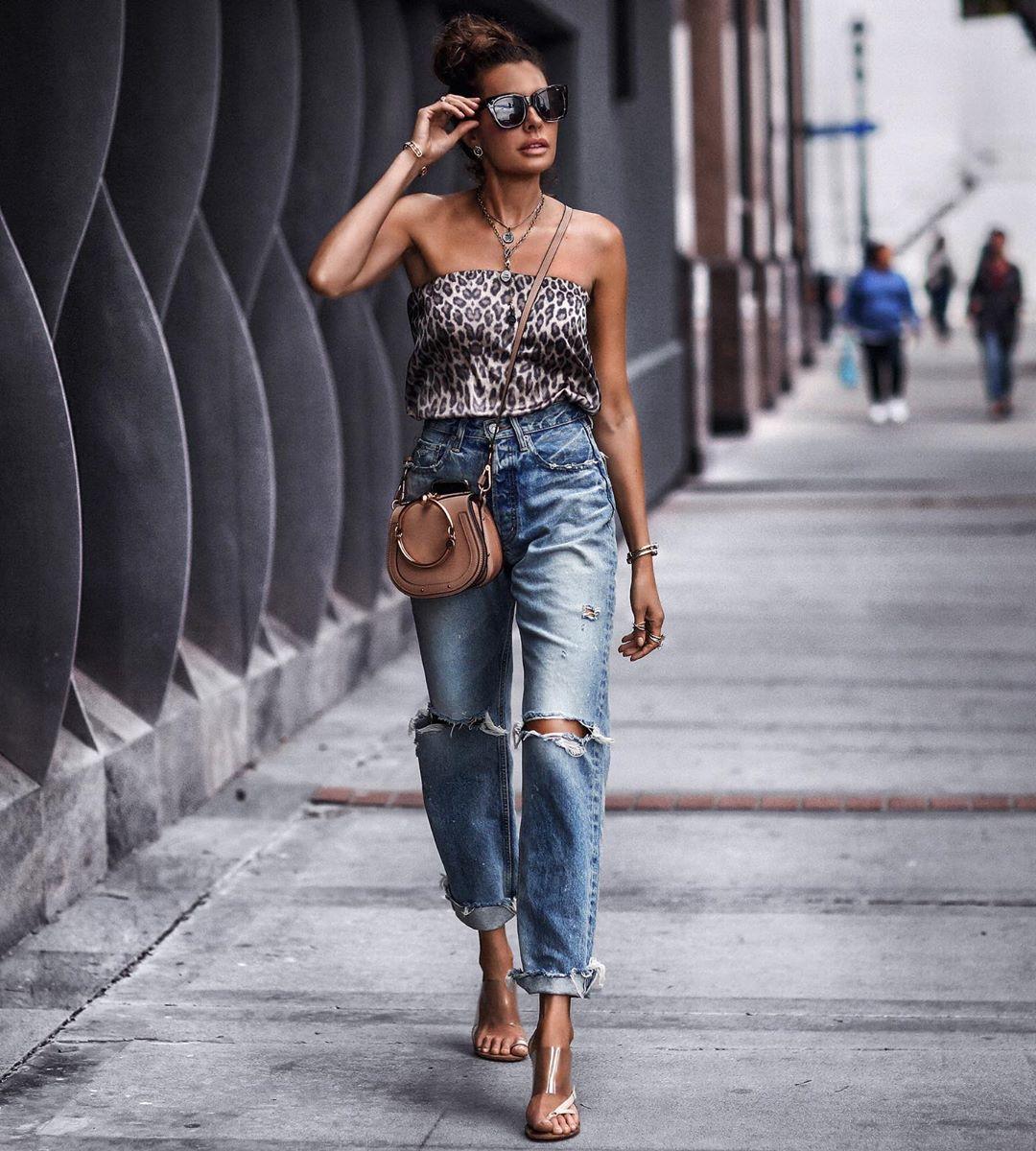 джинсы с высокой талией фото 7