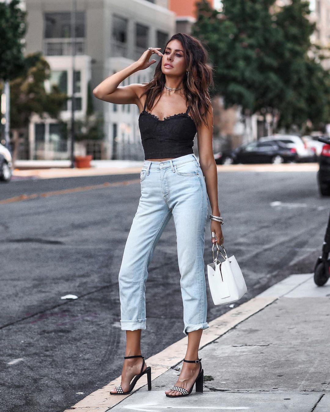 джинсы с высокой талией фото 8