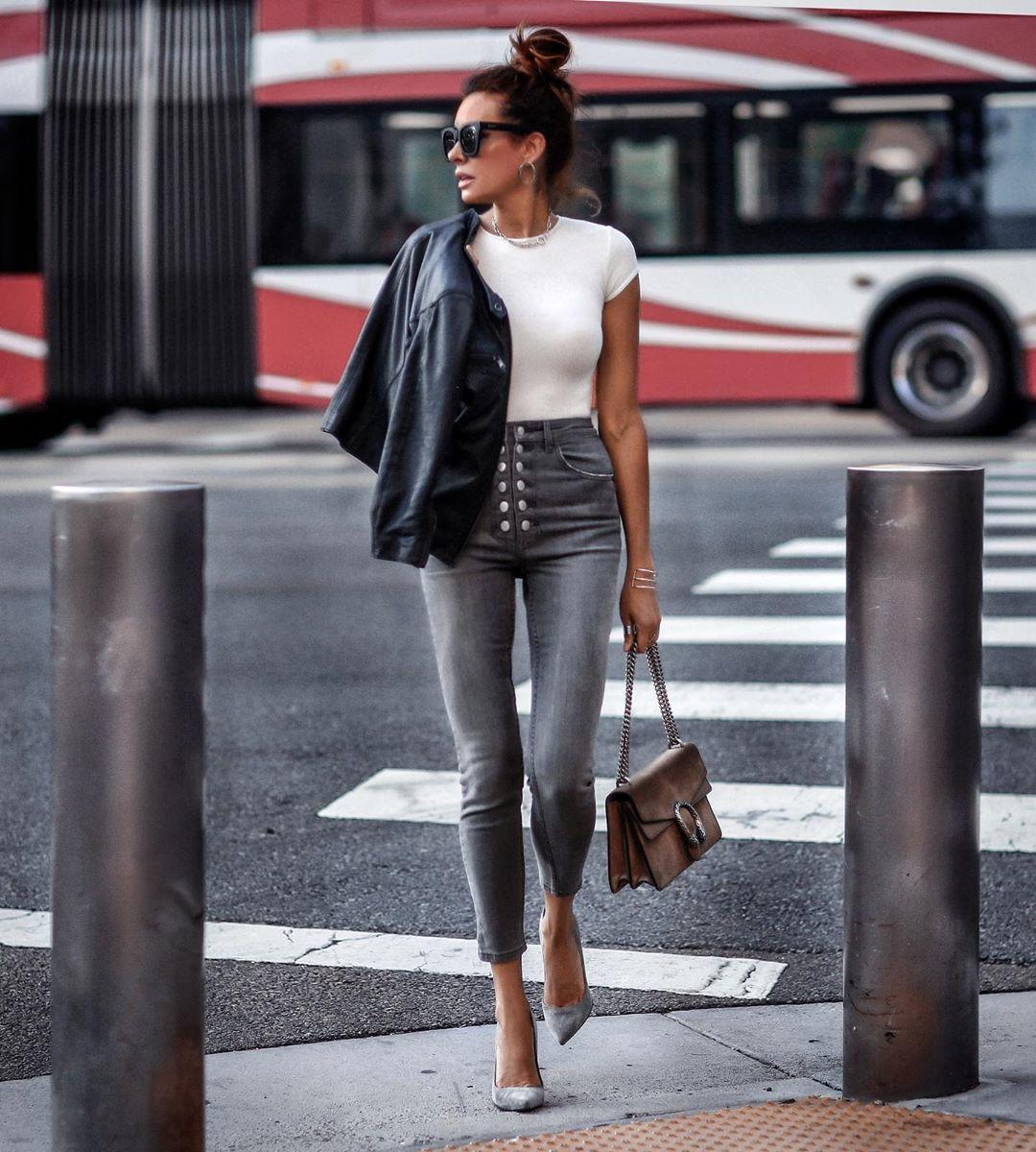джинсы с высокой талией фото 9