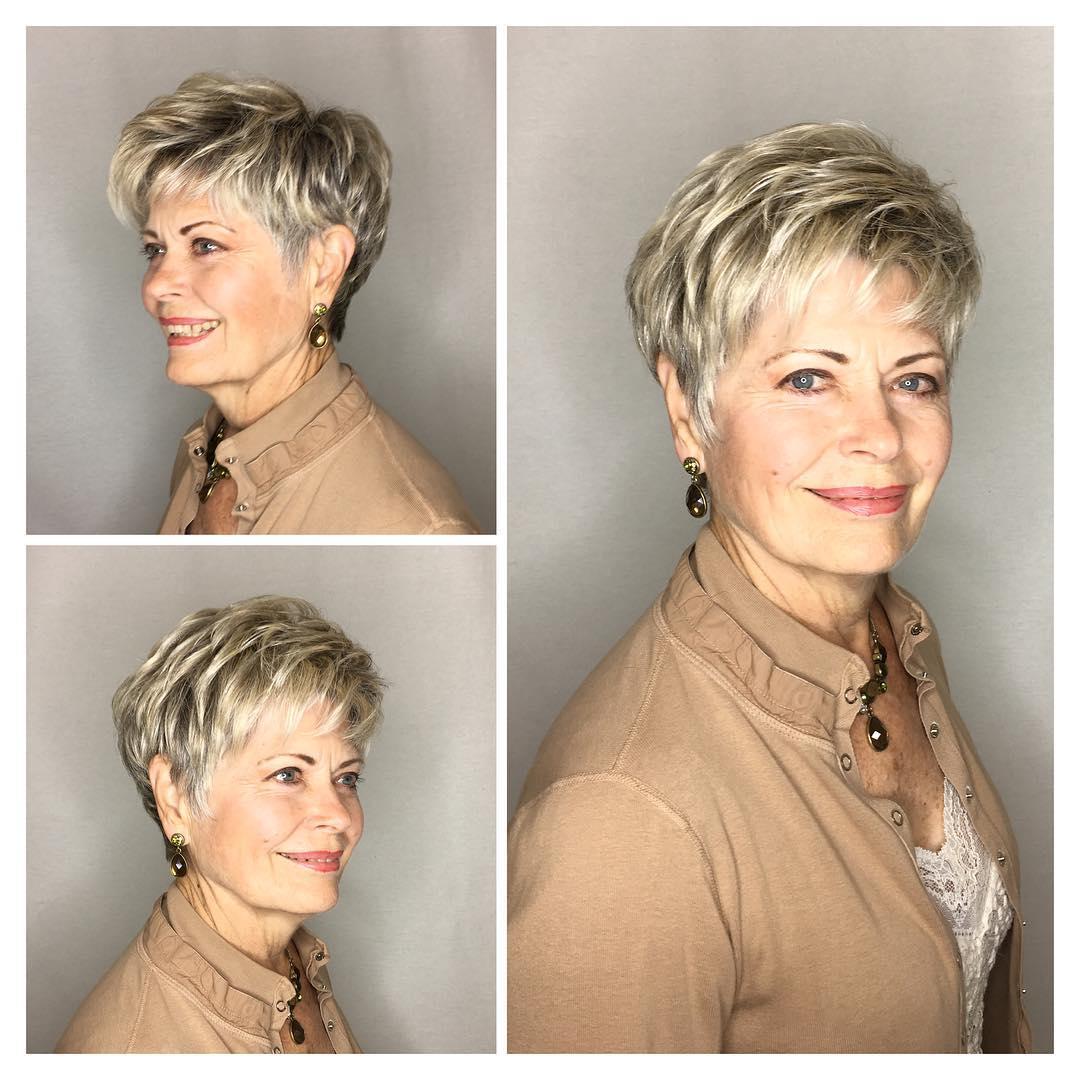 короткие прически для женщин старше 50 лет фото 5