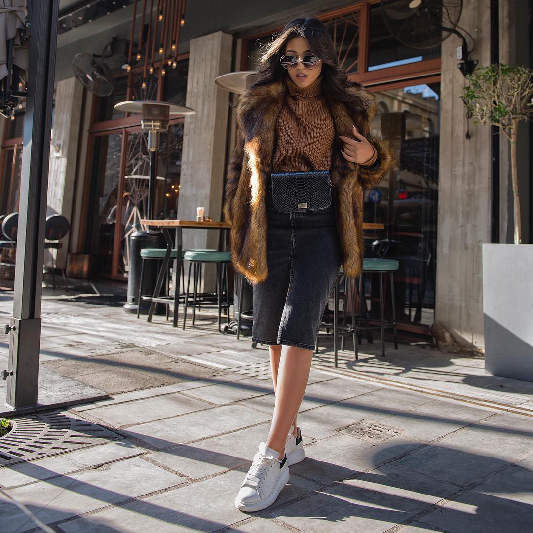 с чем носить кроссовки зимой фото 2