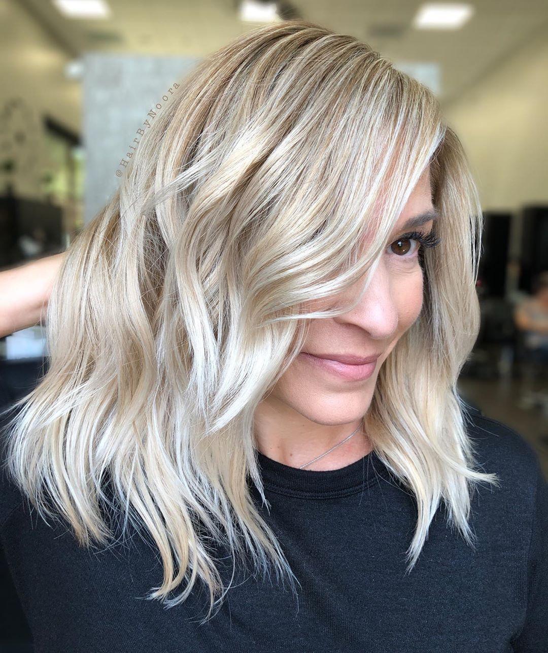 Стрижки после 50 лет на средние волосы 2020 фото 8