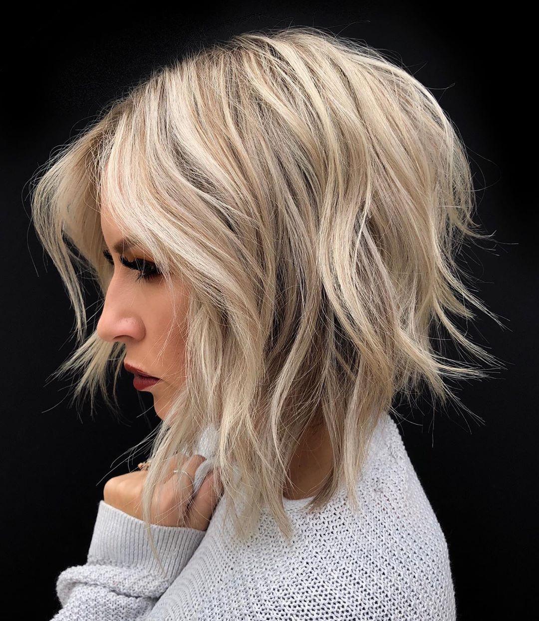 Многослойные стрижки на средние волосы фото 3