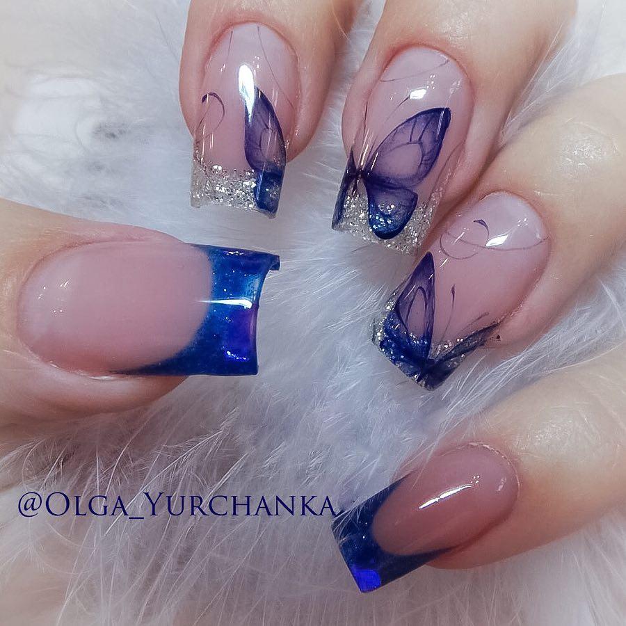 бабочки на ногтях фото_12