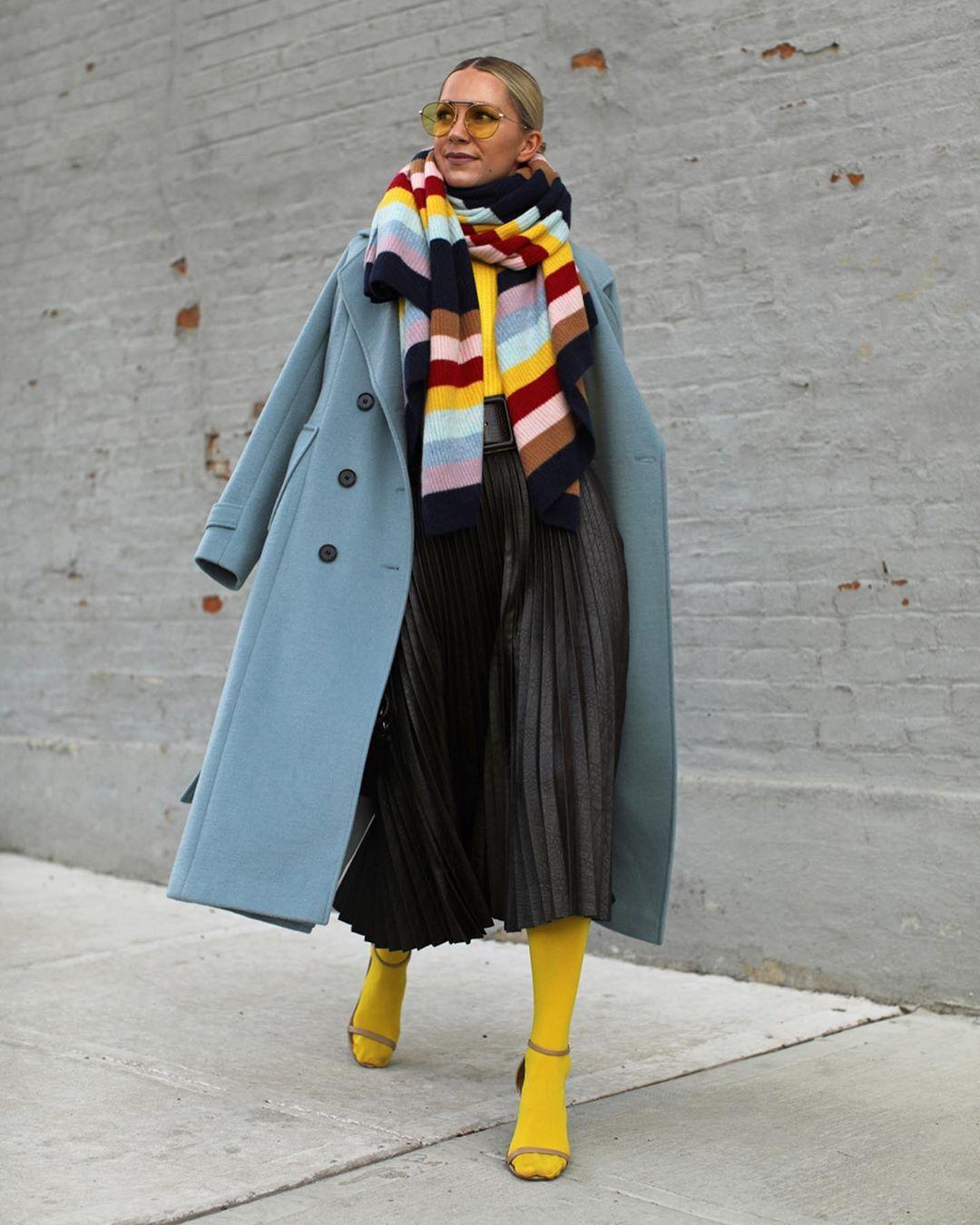 шарф с пальто фото 17