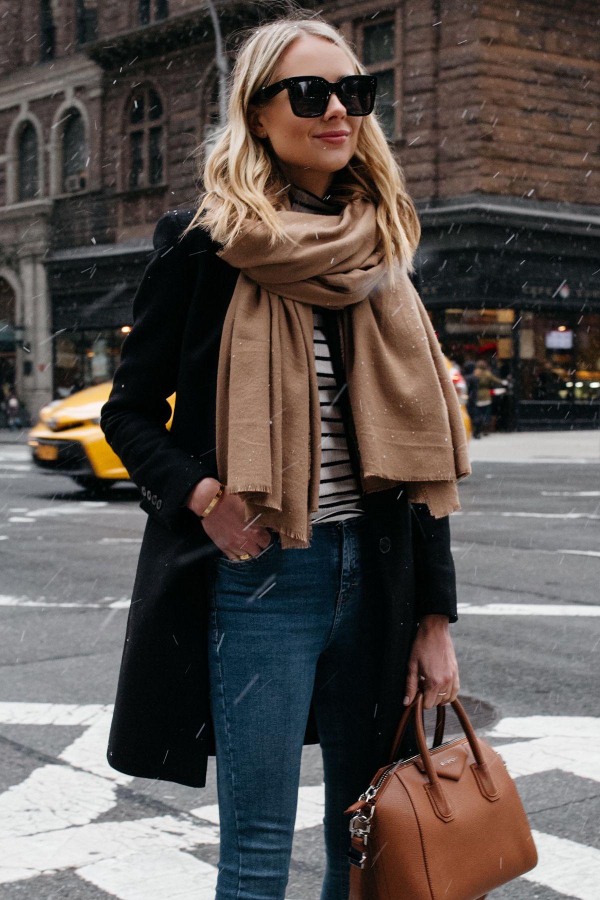 шарф с пальто фото 3