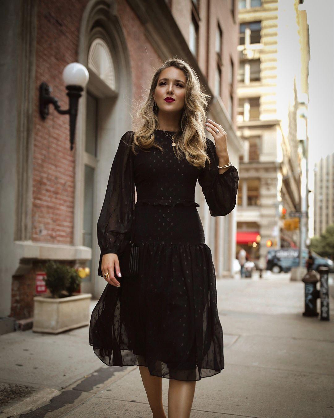 черное платье фото 13