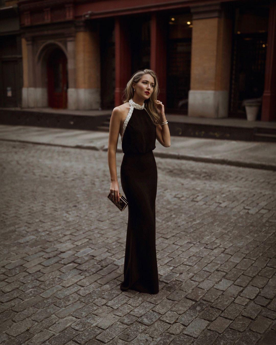 черное платье фото 14