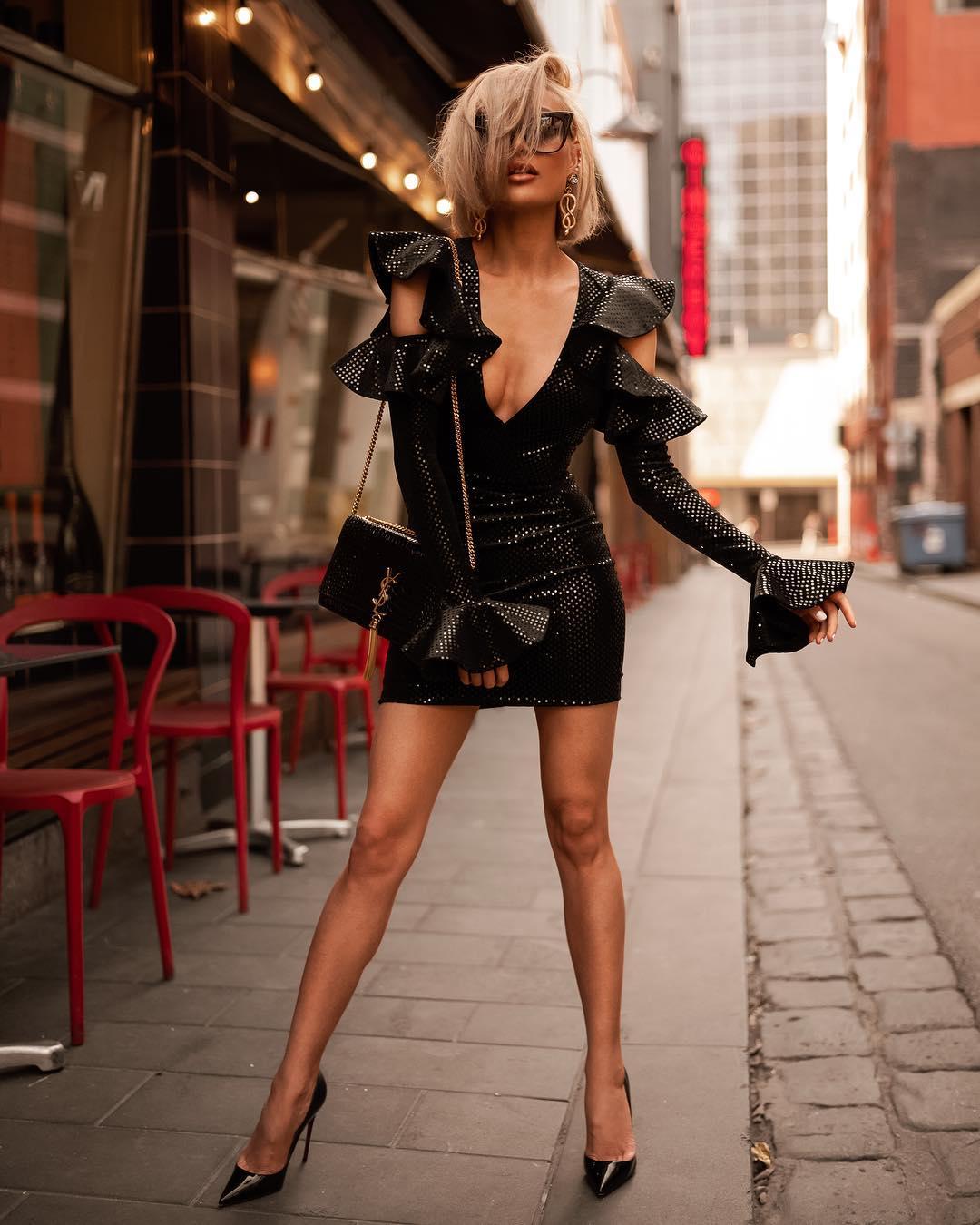 черное платье фото 6