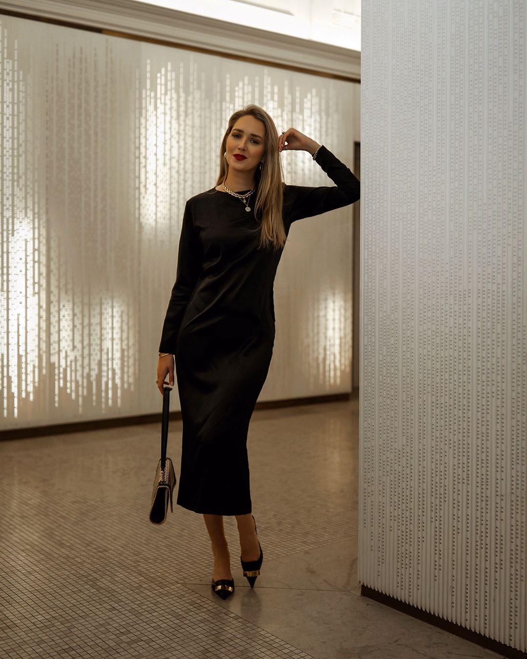 черное платье фото 15
