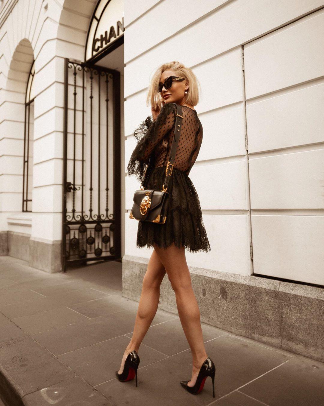 черное платье фото 9