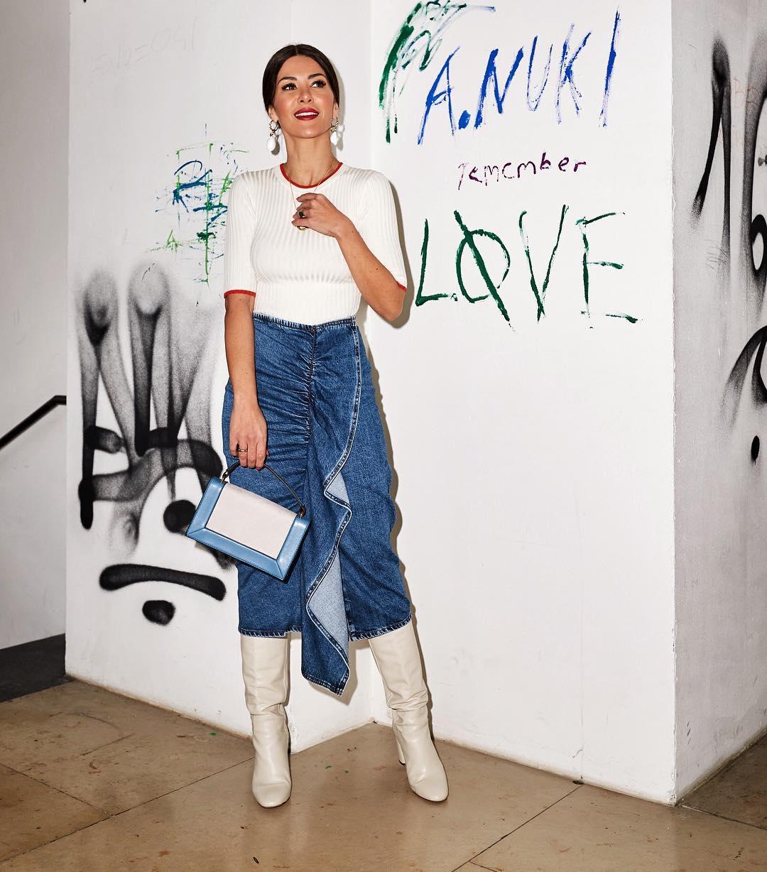 с чем носить джинсовую юбку фото 6