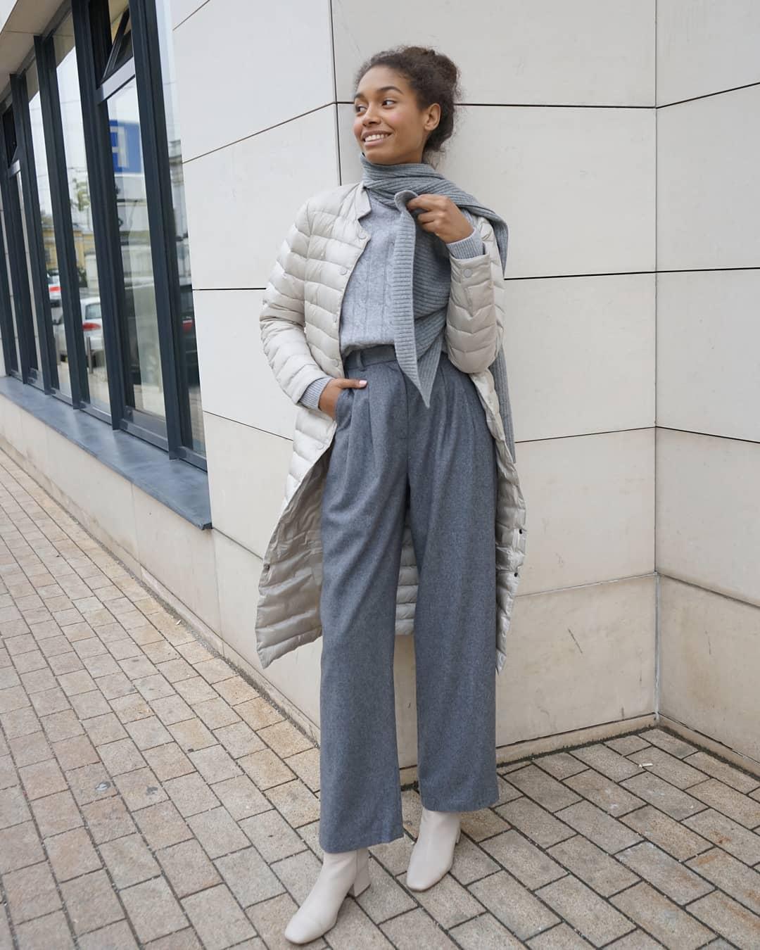 С чем носить широкие брюки фото 10