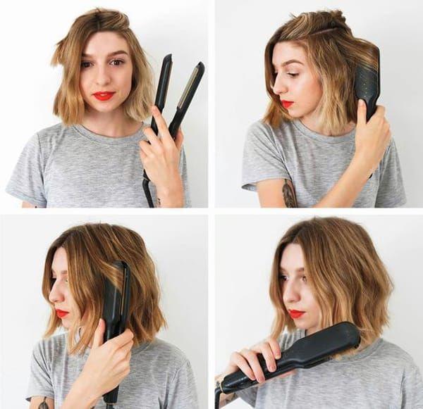 Укладка волос утюжком фото 3