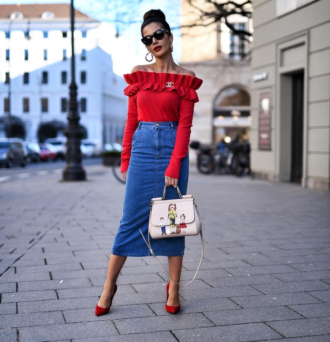 джинсовая юбка карандаш фото 2