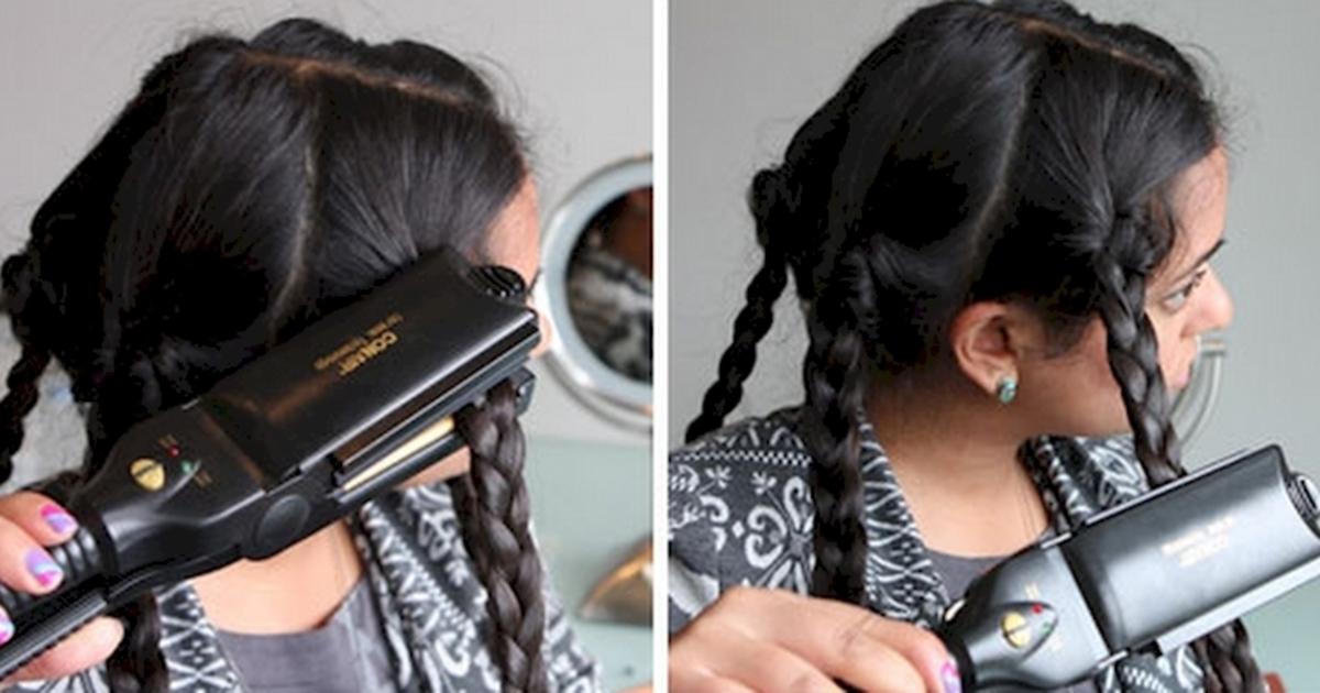 Укладка волос утюжком фото 1