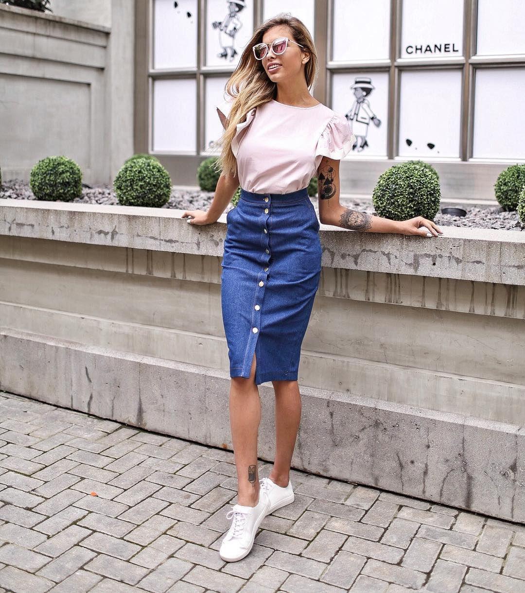 джинсовая юбка карандаш фото 9
