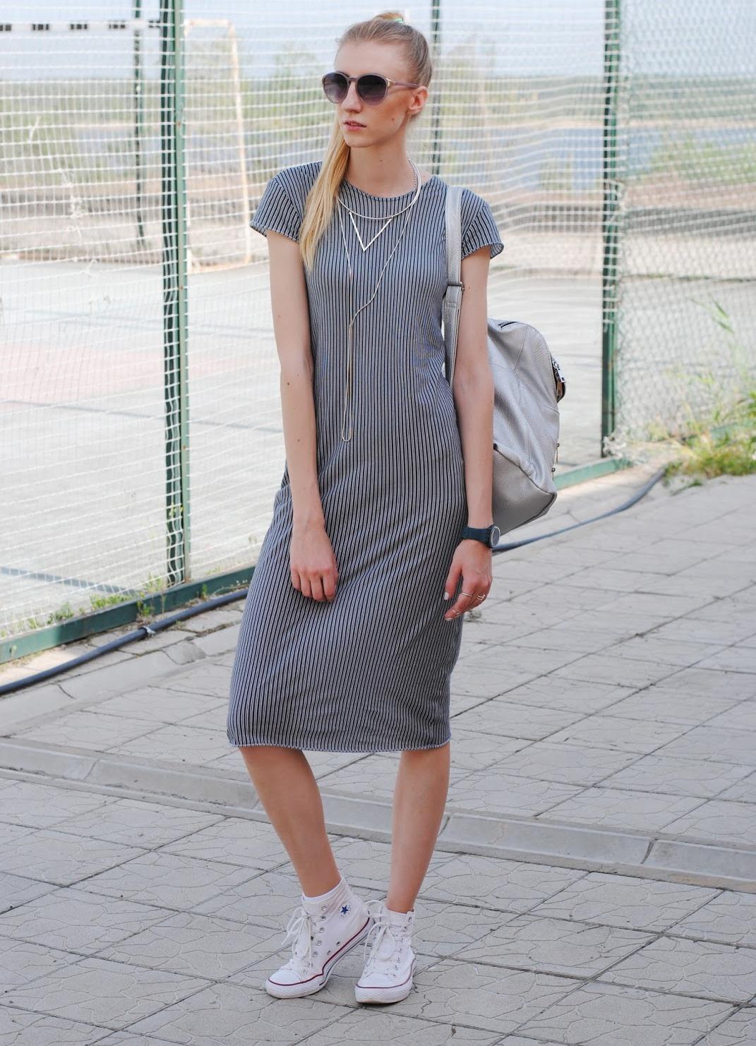 Платье с найками форсами