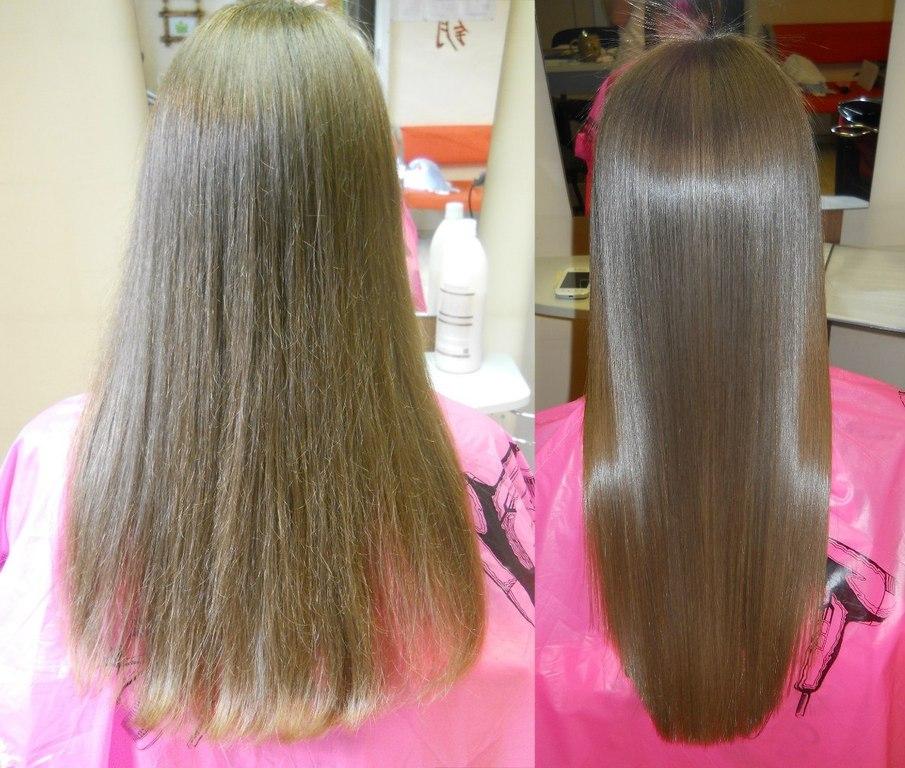 Выпрямление волос после окрашивания