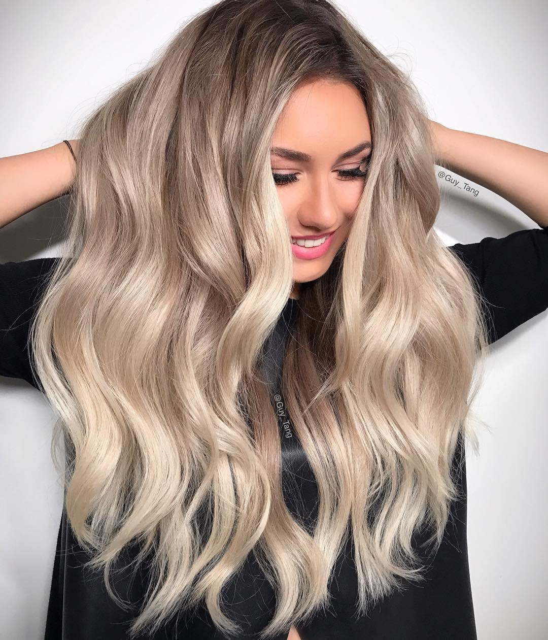 Стильный цвет для волос фото