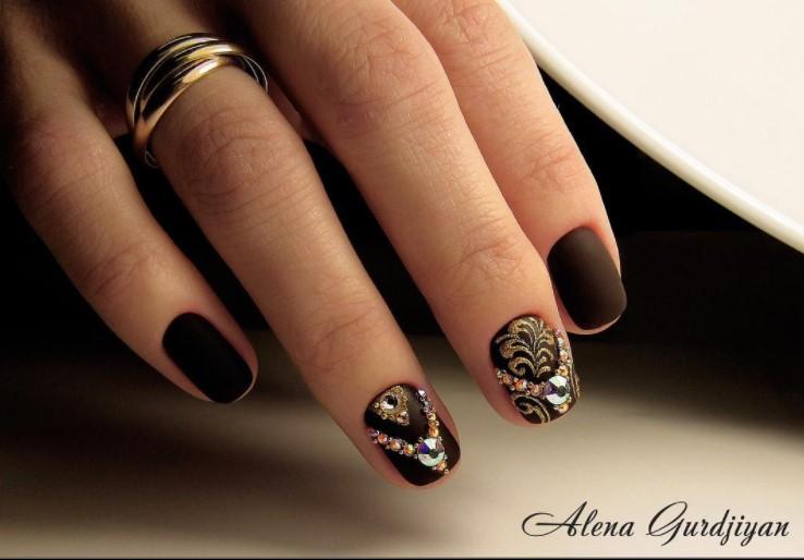 Матовые короткие ногти фото 67