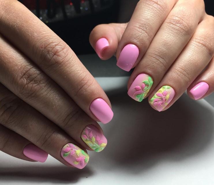 75 новых идей розового маникюра осени 2017
