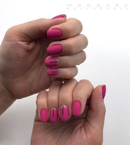 Матовые короткие ногти фото 22