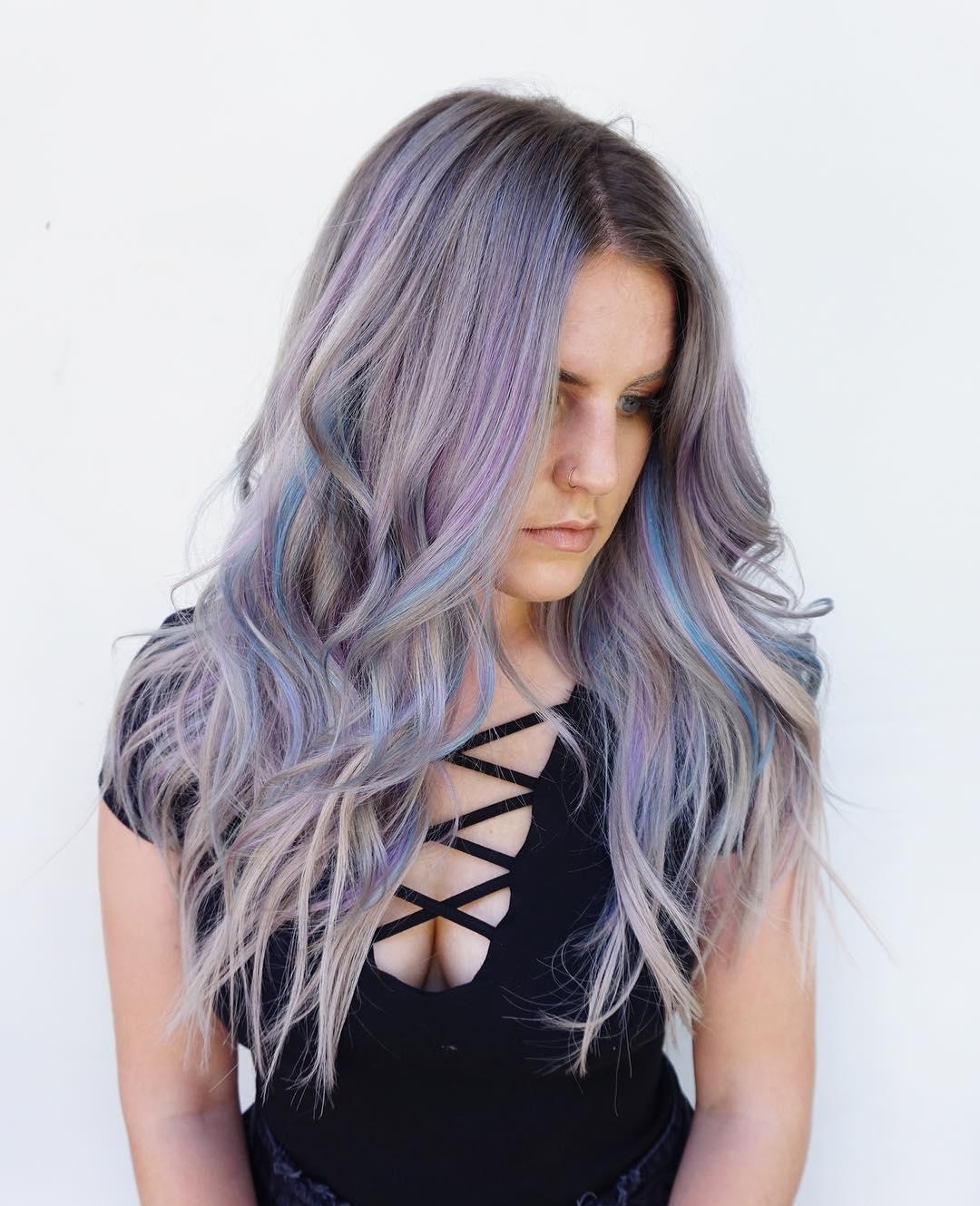 цвет волос аметист фото