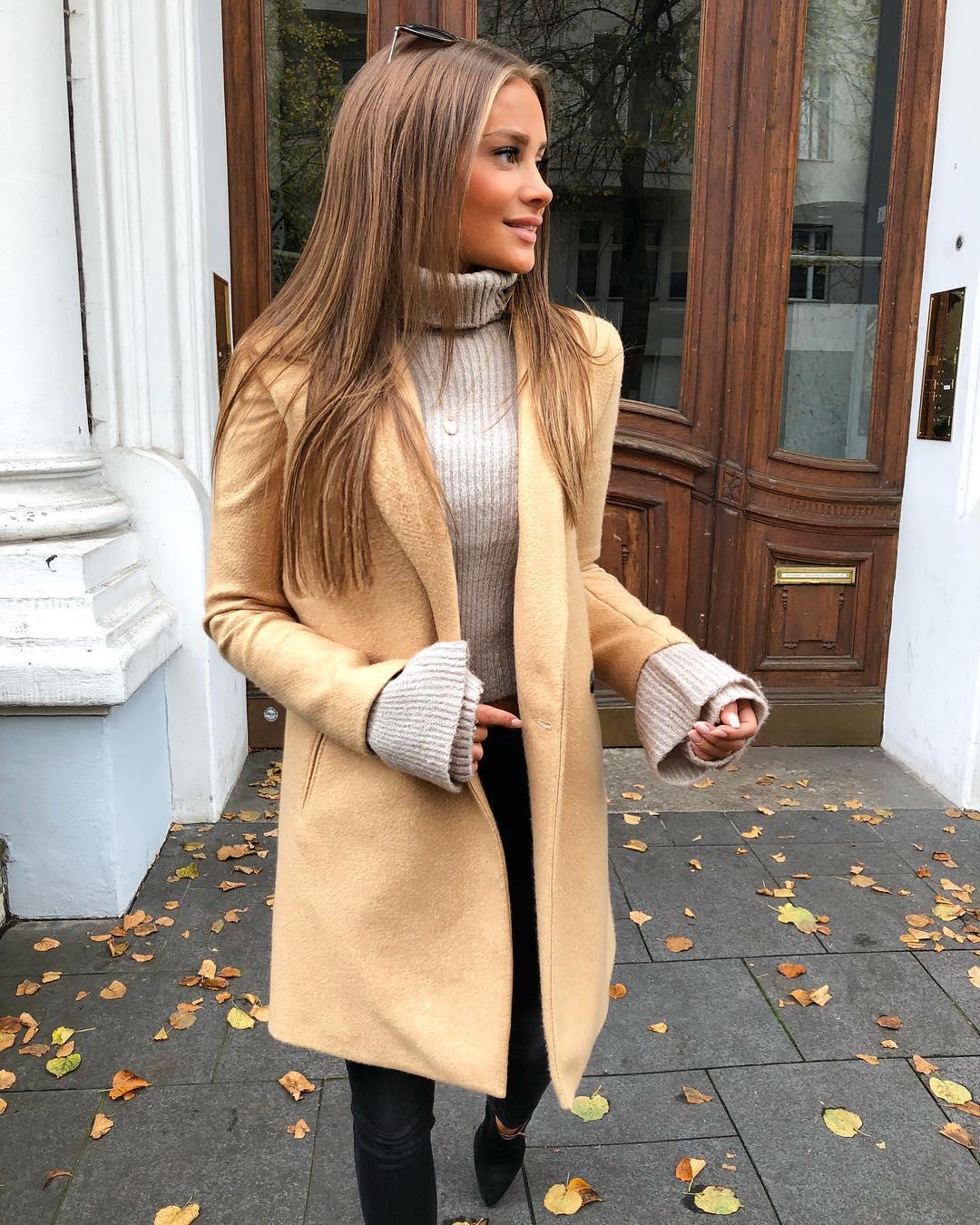 С чем носить женское пальто-пиджак  23 стильных образа 4dc4bb6c70c31
