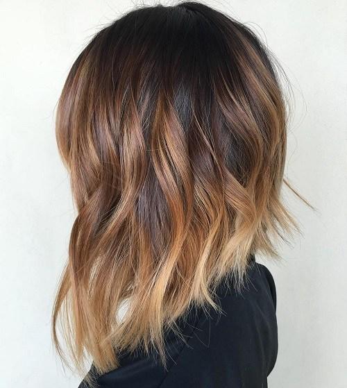 Амбре окрашивание волос на светлые волосы короткие