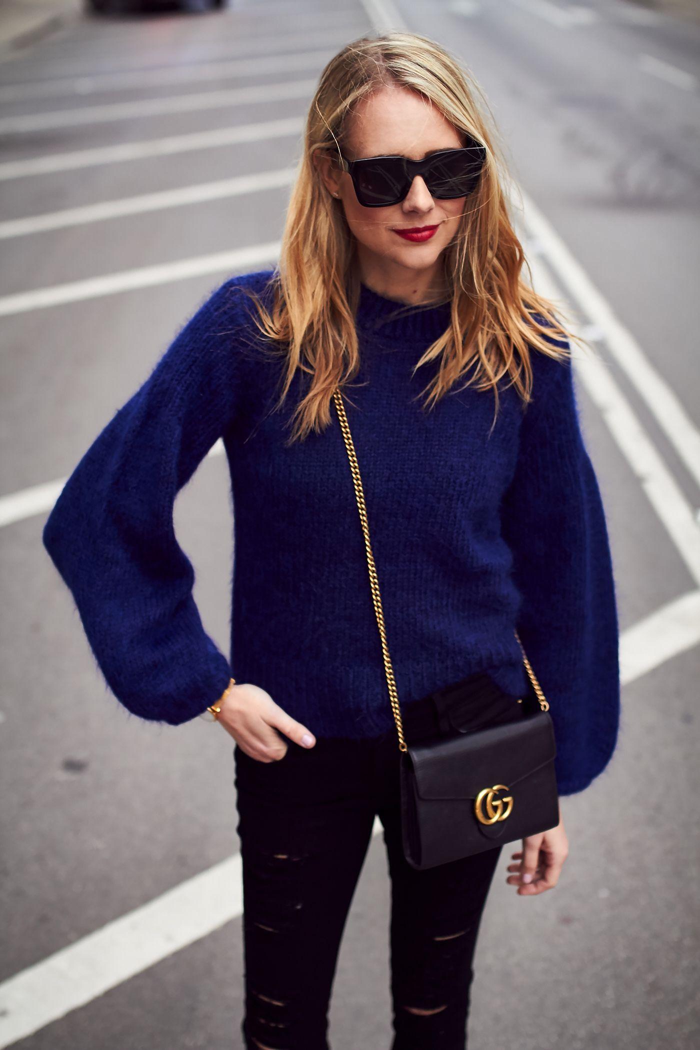 с чем носить темно-синий цвет фото 9