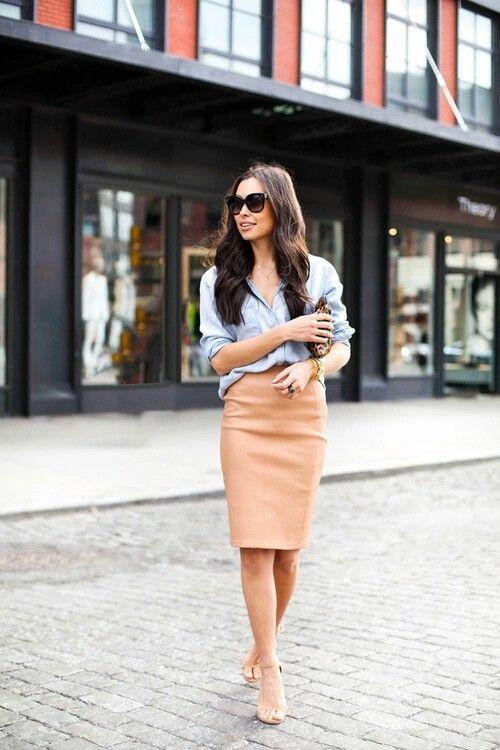 С чем носить юбку карандаш 2018: 20 стильных образов