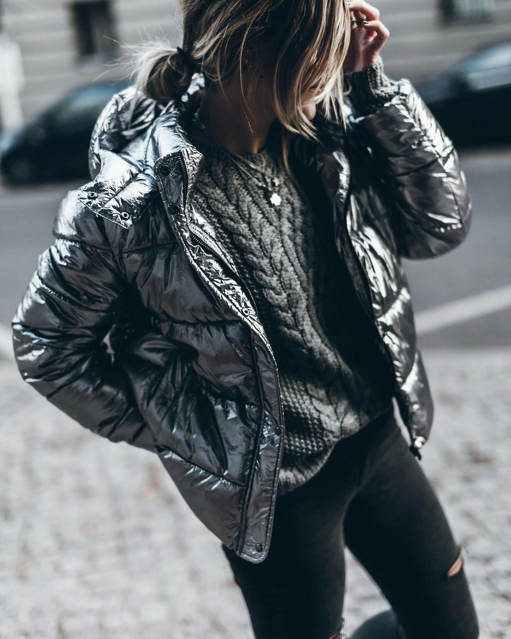 блестящая куртка фото 2