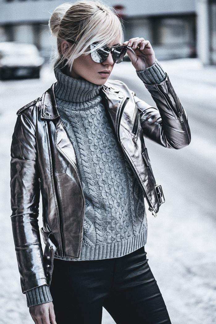 блестящая куртка фото 5