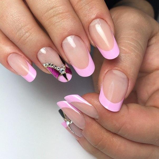 розовый френч фото 39