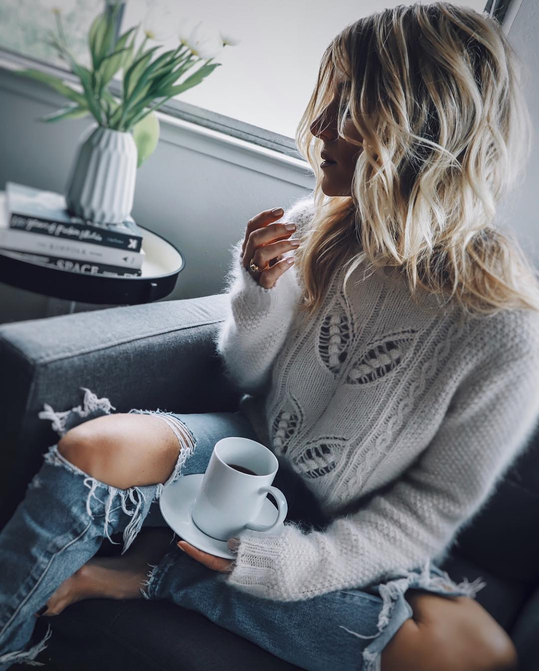 ажурный свитер фото 2