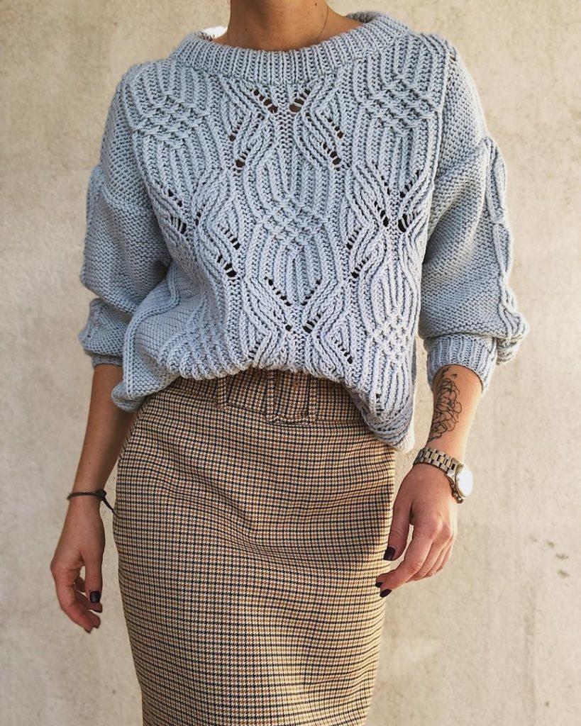 ажурный свитер фото 1