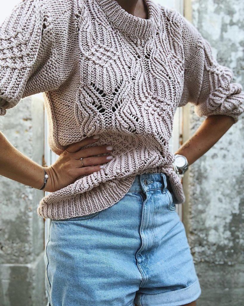 ажурный свитер фото 6