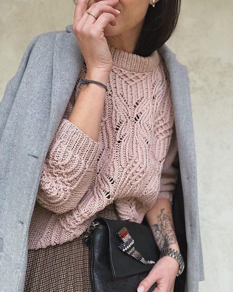 ажурный свитер фото 7