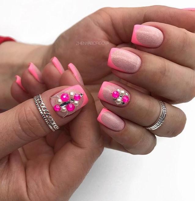 розовый френч фото 2