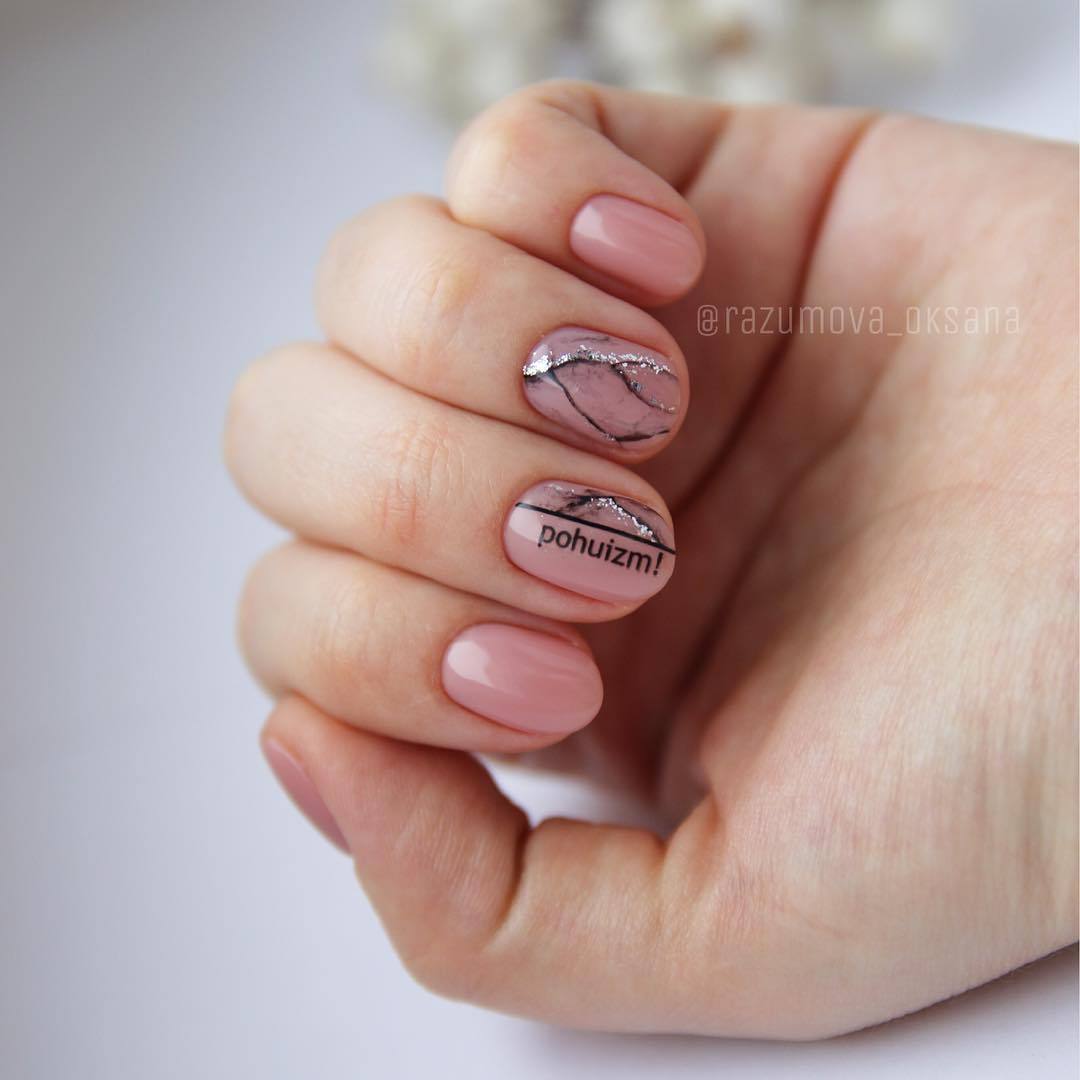 гель лак на короткие ногти 2019_30