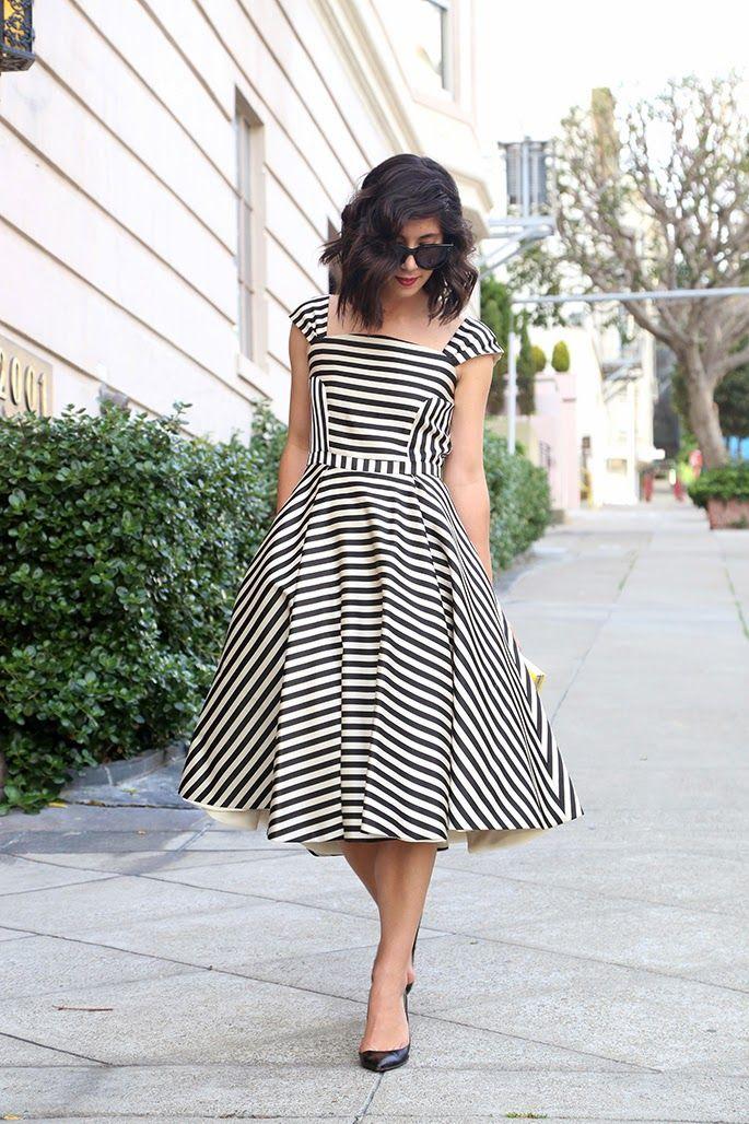 платье в полоску фото 3