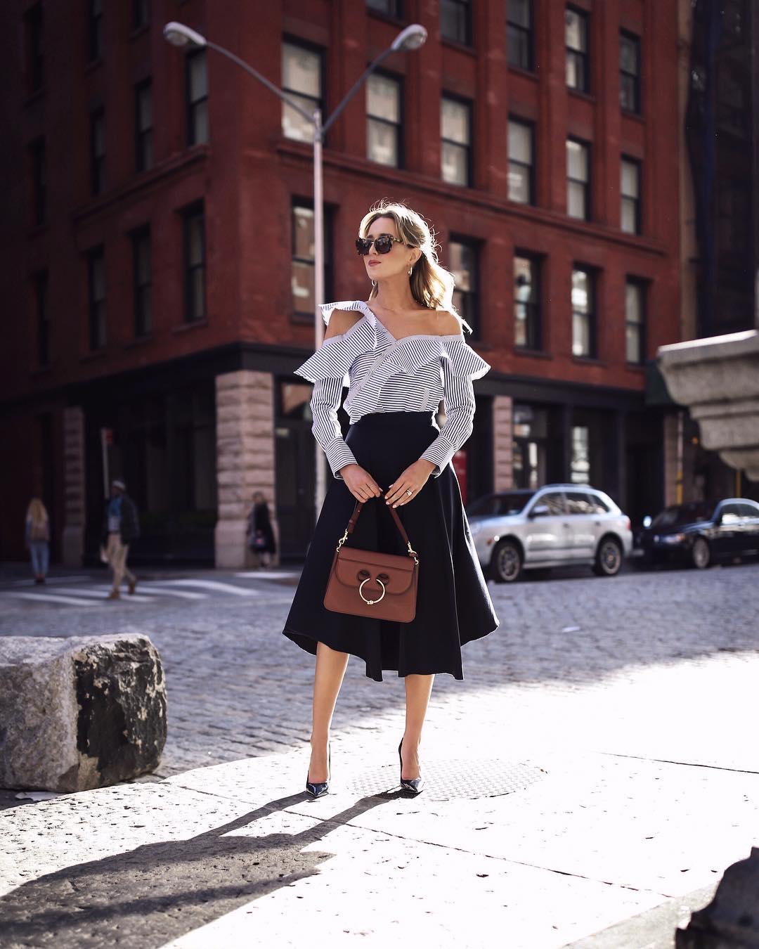 С чем носить юбку миди летом фото 18
