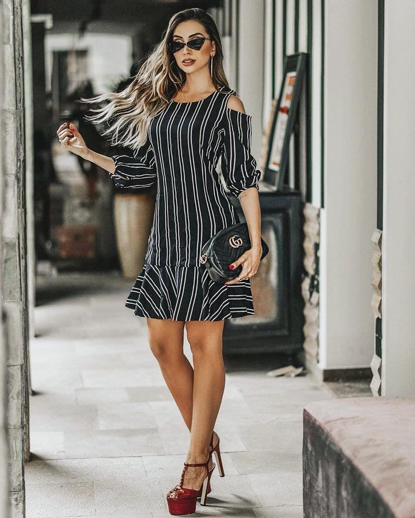 платье в полоску фото 4