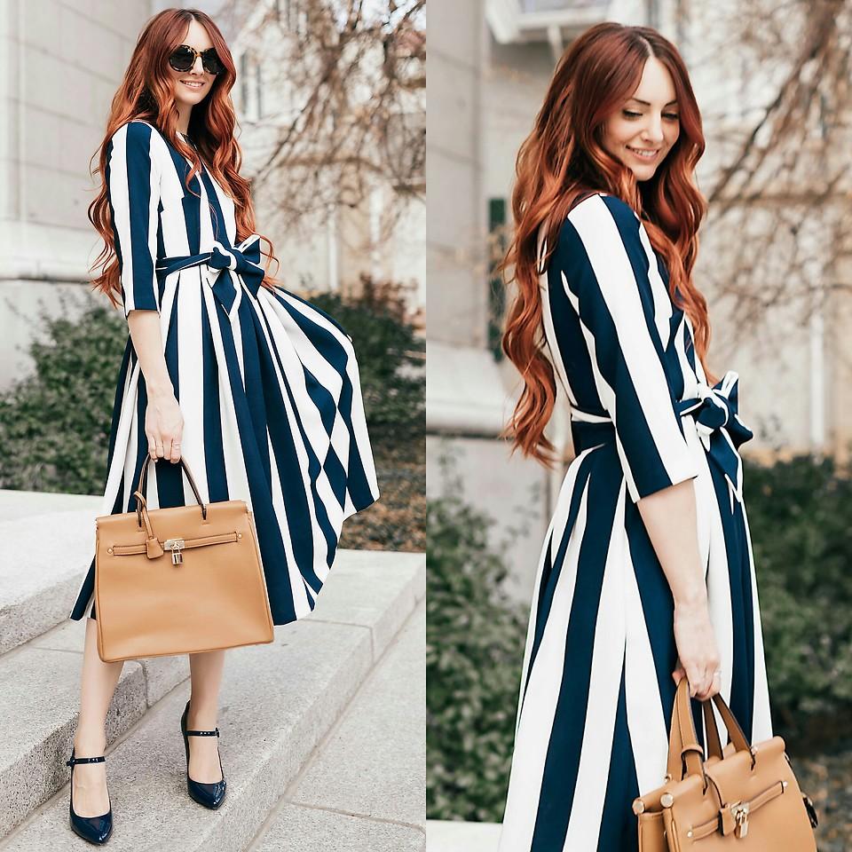 платье в полоску фото 2